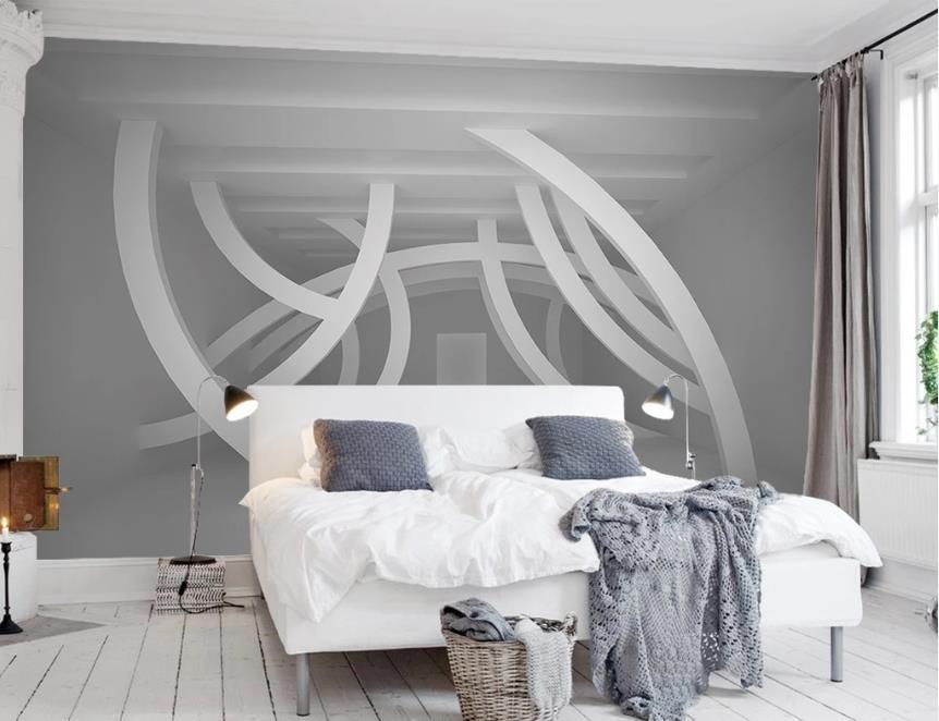 Пользовательские Простые и стильные 3d обои стены Гостиная Спальня 3d обои Абстрактные простые геометрические фигуры 3 d обои