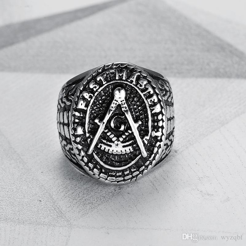 2019 новых людей Кольцо из нержавеющей стали круглой формы Серебро Цвет Якорь Pirate Navigate Punk кольцо для ювелирных изделий Мужчины моды