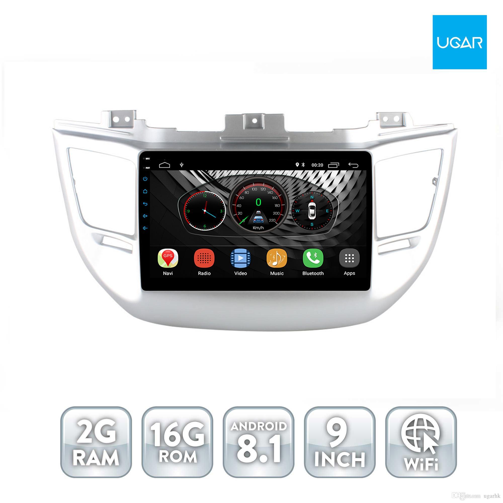 9 pollici Android8.1 Hyundai IX35 Tuscon 2014 - 2015 2016 Quad Core 2GB RAM Navigazione GPS per auto Multimedia Player Radio Wifi