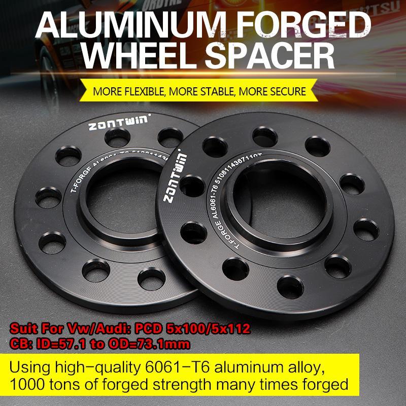 2/4 piezas 3/5/8/10/12/15/20mm rueda espaciador adaptadores PCD 5x100/5x112 CB: ID = 57,1mm a OD = 73,1mm traje para Vw/coche