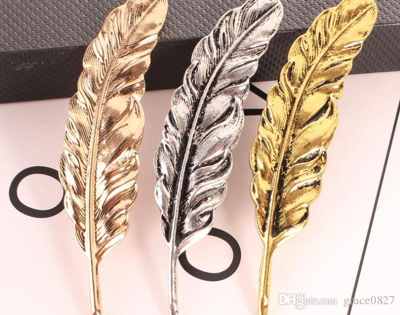 Leaf Brooch Feather Pin antique silver/gold plated Mens Suit Accessories Woman rhinestone Lapel Pin Brooch best Jewelry gifts