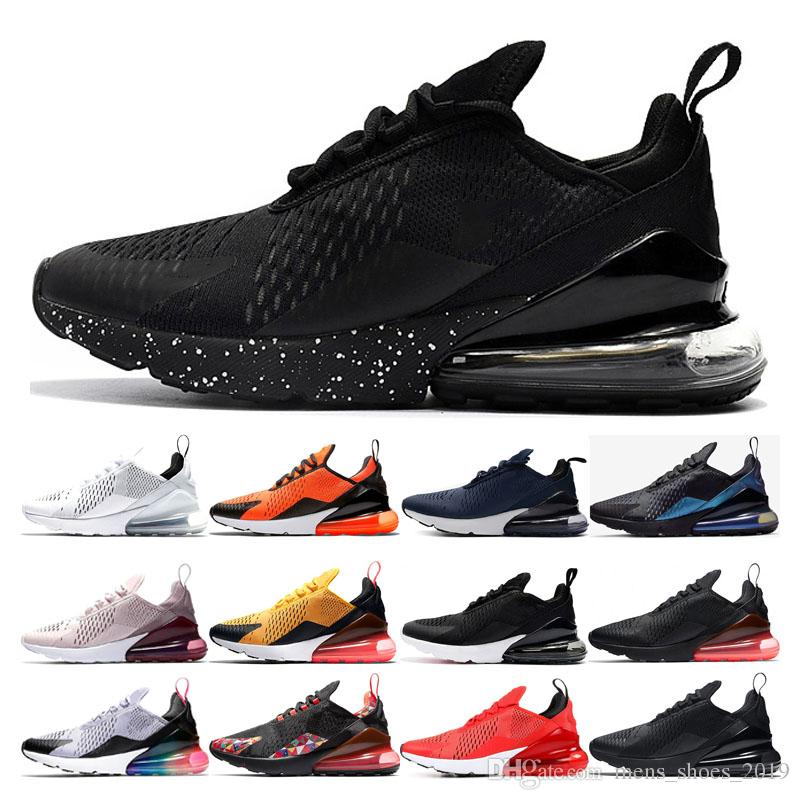 Compre Nike Air Max 270 Shoes 2019 Cushion Running Shoes Para Hombre Mujer  Diseñador Negro BARELY Rosa Negro Carmesí Rojo Habanero Rojo Core Blanco ...