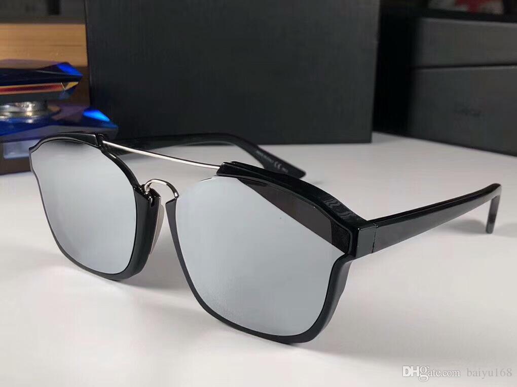 Lens Silver Black Sunglasse astratti dell'annata delle donne Occhiali da sole da sole di modo UV400 Shades occhiali di protezione