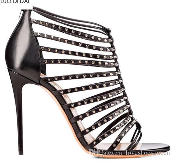 2019 мода женщины с открытым носком сандалии золотые туфли на высоких каблуках ну вечеринку туфли на молнии сандалии гладиатора платье обуви сексуальный шип шпильки