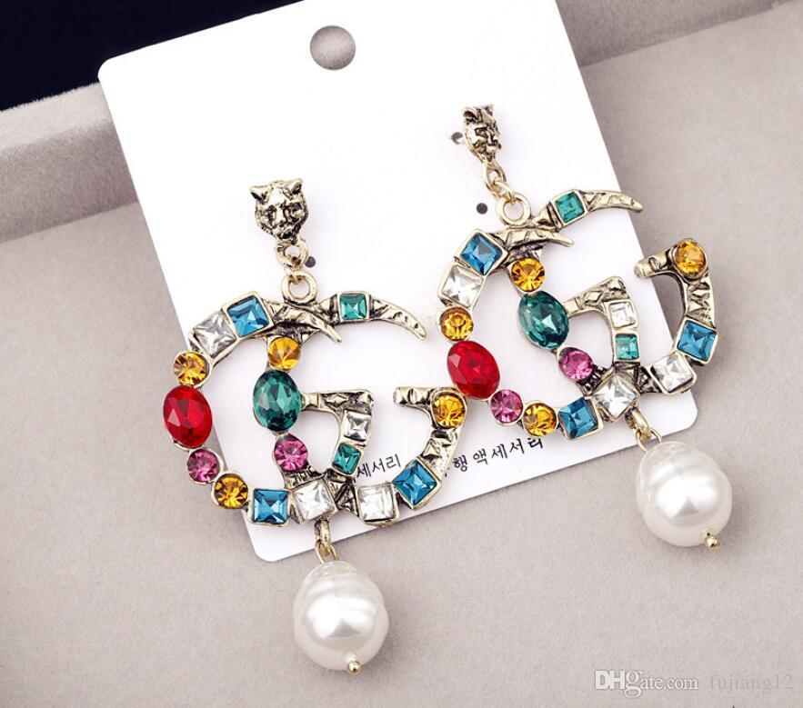 القرط الماس صالح باندورا مجوهرات الذهب روز مطلية بالذهب وأقراط النساء القرط