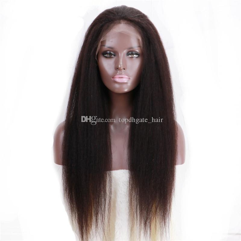 Pretty Brazilian lace front Wig and full lace human hair wig for with baby hair for black women free shipping can be dyed
