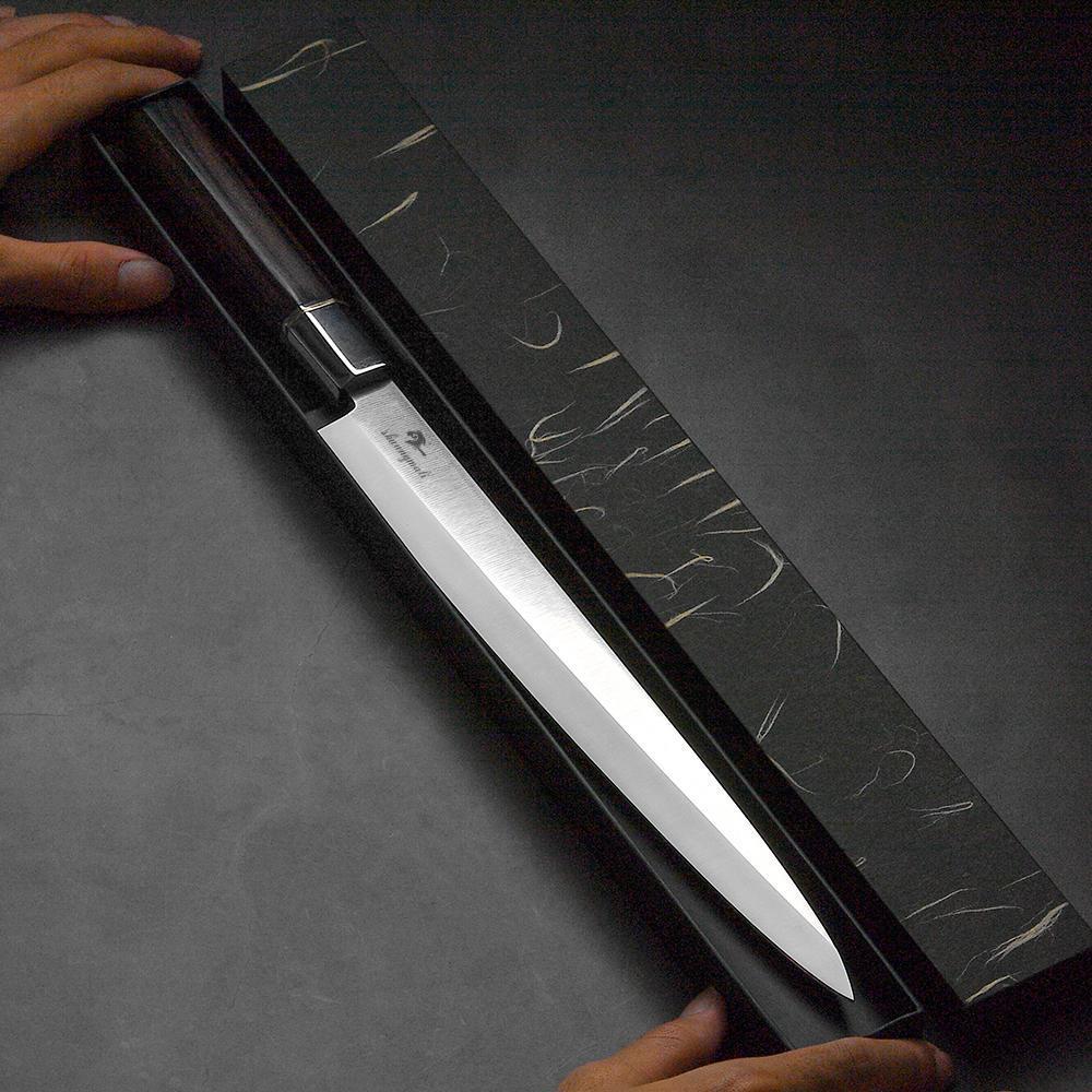 YKC Горячего 12-дюймовая японской сашьего нож Yanagiba рыбалки нож для кухни Chef Суши Ножи 5cr15 стали Salmon Японии