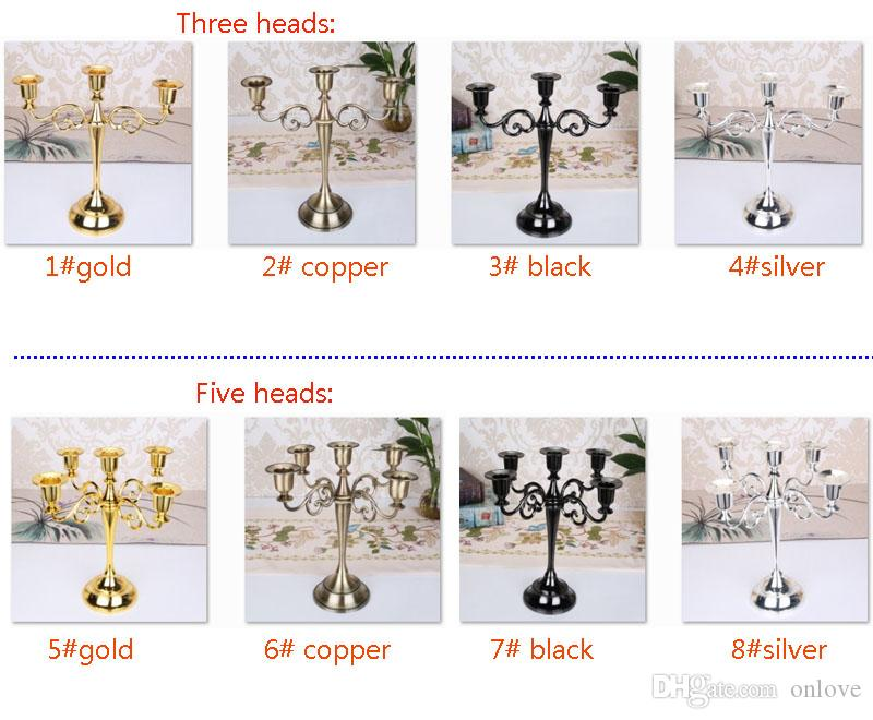 3 Arms 5 Arms Candelabra Candle Holders for Wedding Home Party Christmas Decor