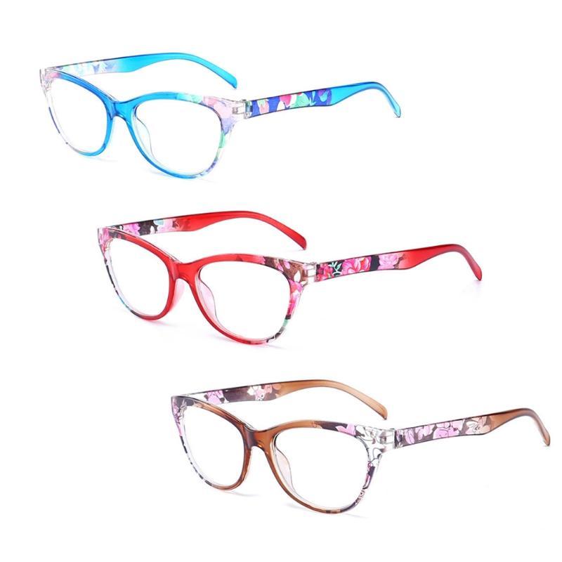 Cat Eye Женщины Reading Glasses Mens Смола против усталости Reading-очки Фирменные женские очки Прозрачный зрелищ W715