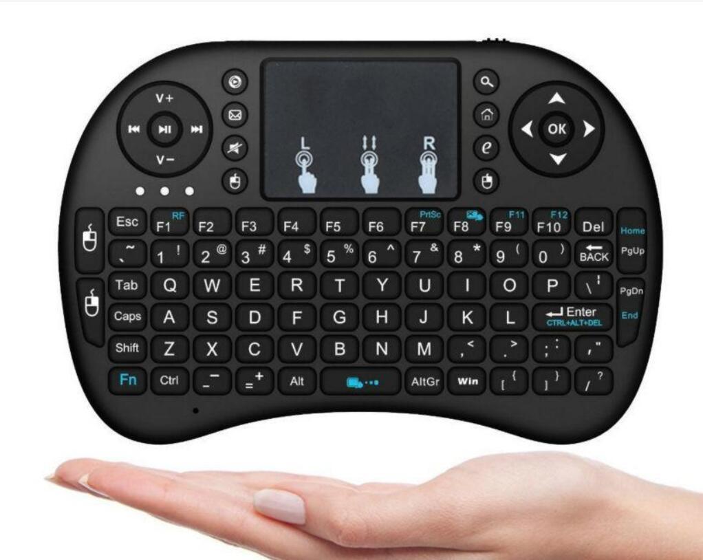 Mini Rii i8 drahtlose Tastatur 2.4G Englisch Air Maus-Tastatur-Fernbedienung Touchpad für Smart Android TV Box Notebook Tablet PC