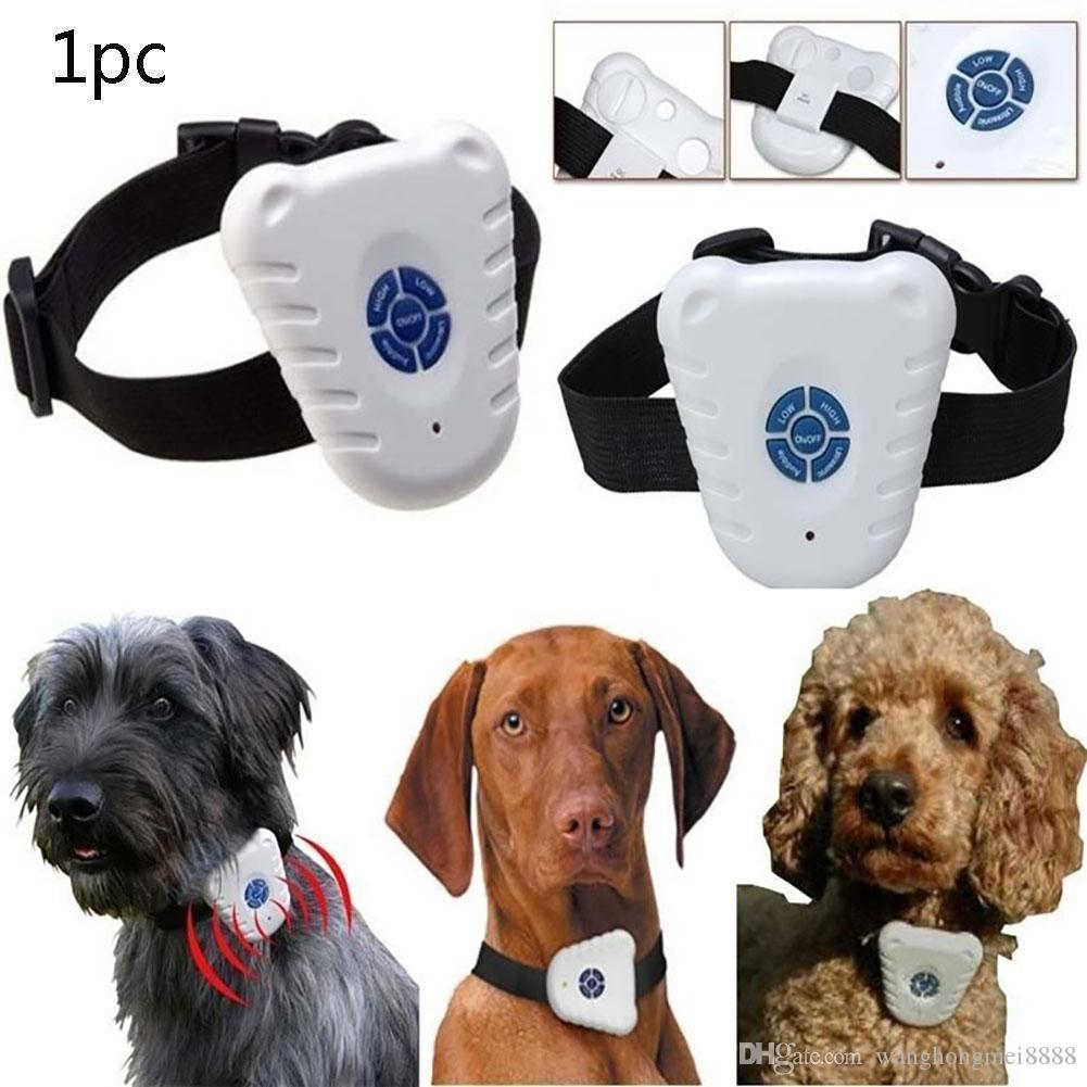 Ultrasonic Anti Bark Stop Barking Pet Dog Training Shock Control Collar for Small Medium Large Dogs Anti Barking