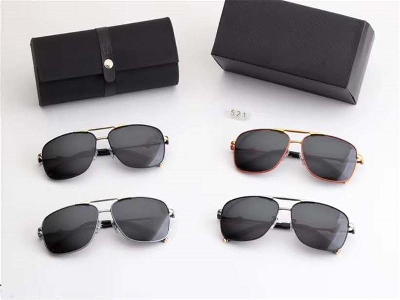 Высокий конец бренд самый лучший продавая 4 цвета MEN ВС очки Polaroid очки Пляж основные открытые очки с пакетом Box 521