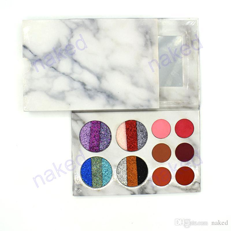 Neu kommen 18 Farben gliter und matte Augenschminkepalette keine LogoLidschattenkombination an Marmorsatzmischungsfarben nehmen besonders angefertigt an
