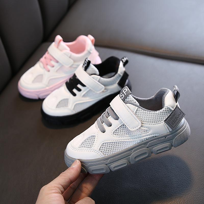 Детская спортивная обувь весна мода дышащие дети мальчики нетто обувь девушки антискользящие кроссовки кроссовки кроссовки детей м200545