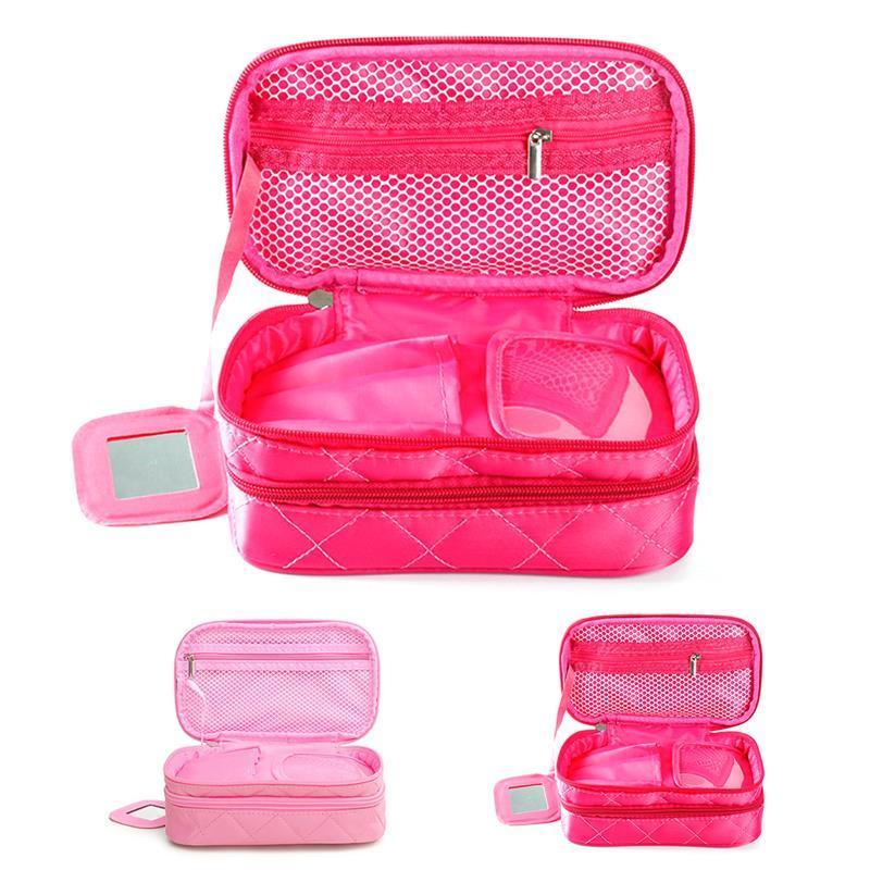 Caso del maquillaje de las mujeres de nylon impermeable portable creativa del maquillaje organizador cosmético del bolso cosmético de la bolsa de viaje