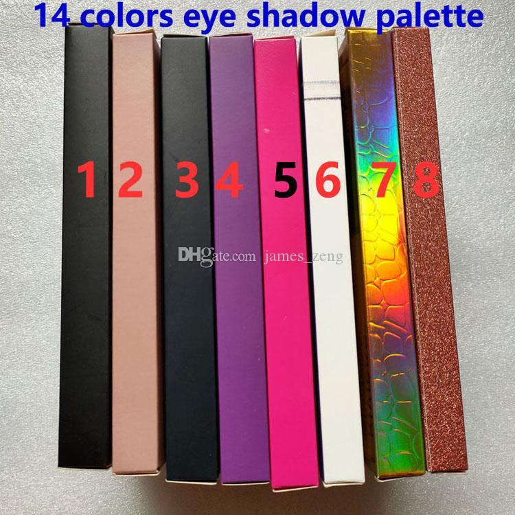 العلامة التجارية 14 ألوان ظلال العيون لوحة لامع ماتي العين ظلال الجمال ماكياج 14 ألوان عينيه لوحة الساخنة