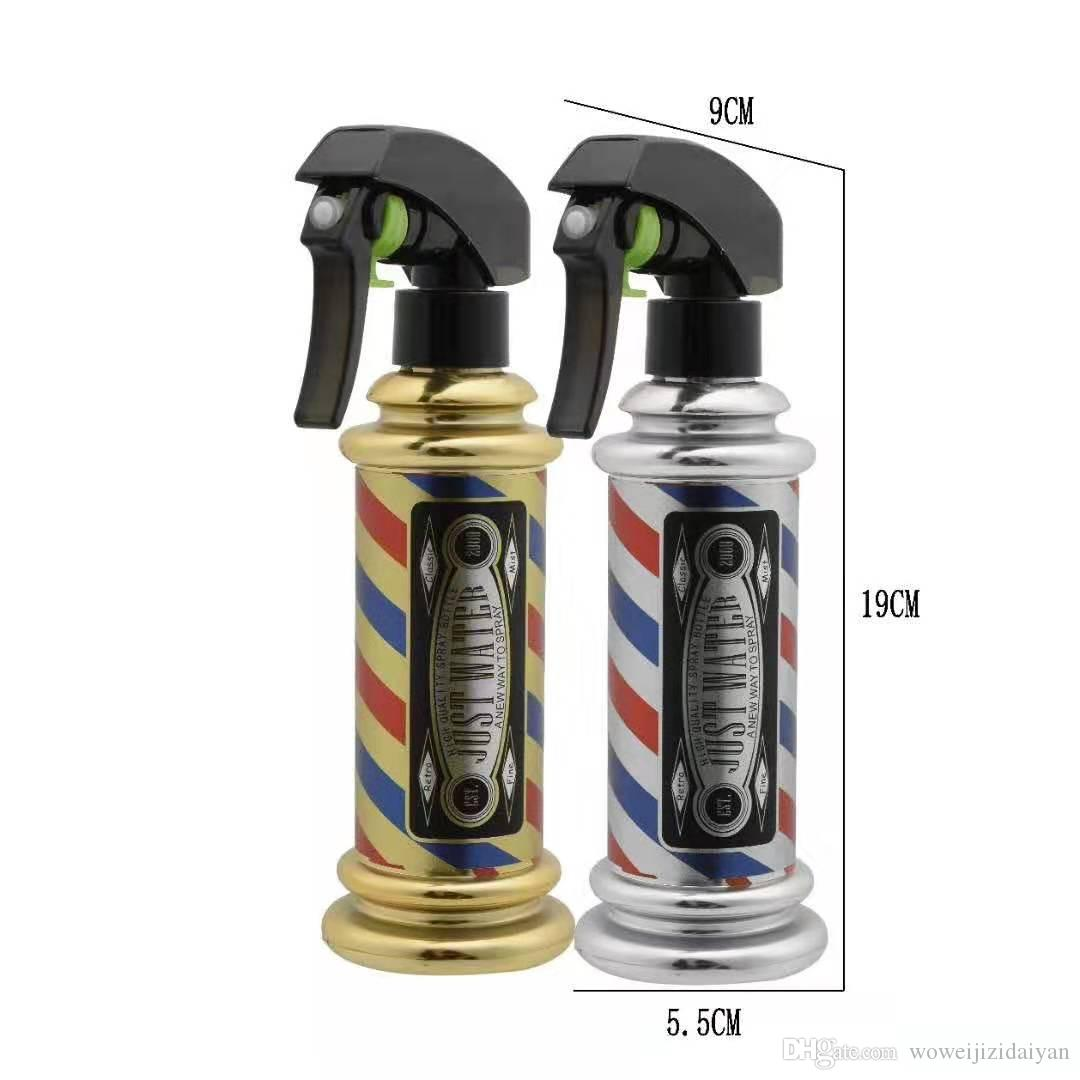 صالون الشعر المباشر زجاجة رذاذ مخصصة حلاقة متجر حلاقة الشعر المخرج سقي التلقائي