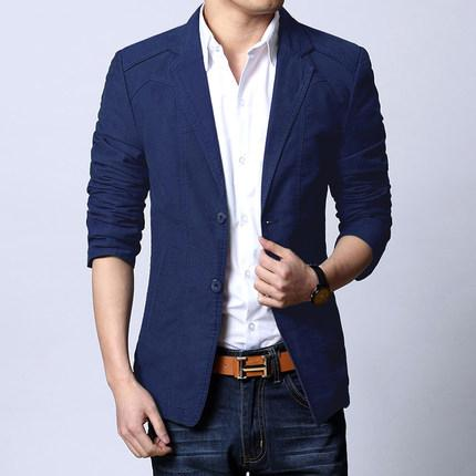Boollili 2020 Brand New Blazer Hommes Costume Casual Cotton Blazer Slim Fit Fashion Veste Homme Printemps Automne Thin Taille Plus 5XL