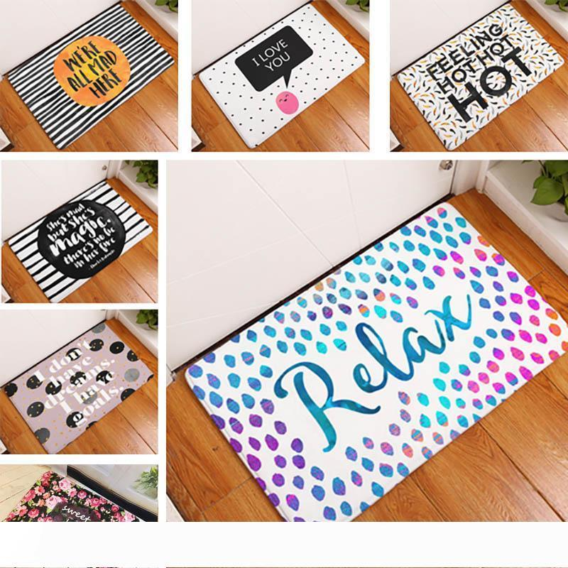 Homing New Arrive Door Mats for Entrance Door Character Colorful Words Printed Carpets Living Room Dust Proof Mats Home Decor WX9-93