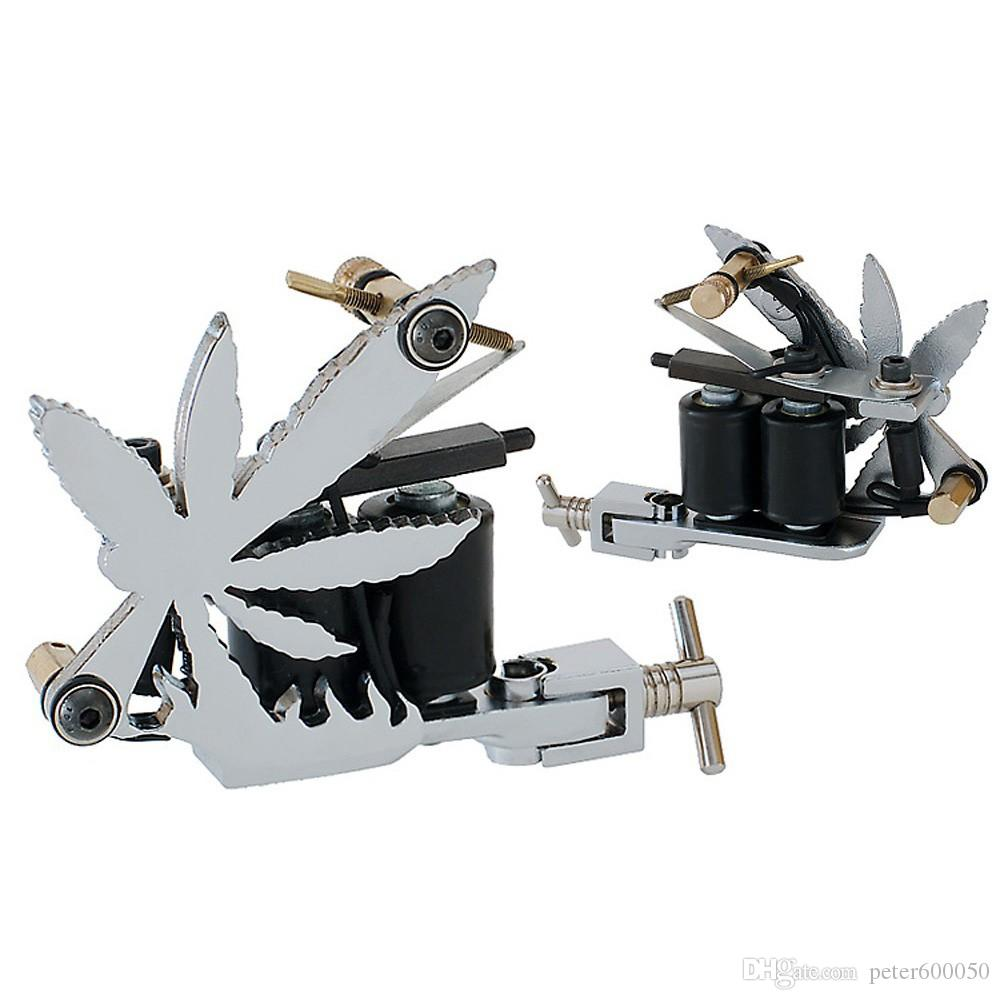 Ücretsiz Kargo 1 Pro! gümüş özel havalandırmalı 10 bobin DÖVME tabanca MAKİNASI HANDMADE tedarik SHADER / astar
