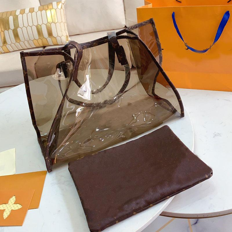 Tote Bag Big Handbags Large capacity package Fashion Clear Old Flower Transparent Printing high quality Lady Shopping bags fast shipping