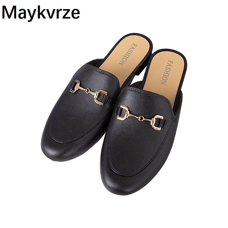 Mode 2020 der neuen Sommerfrauen Schuhe weibliche Hälfte Pantoffeln Sandalen Frau