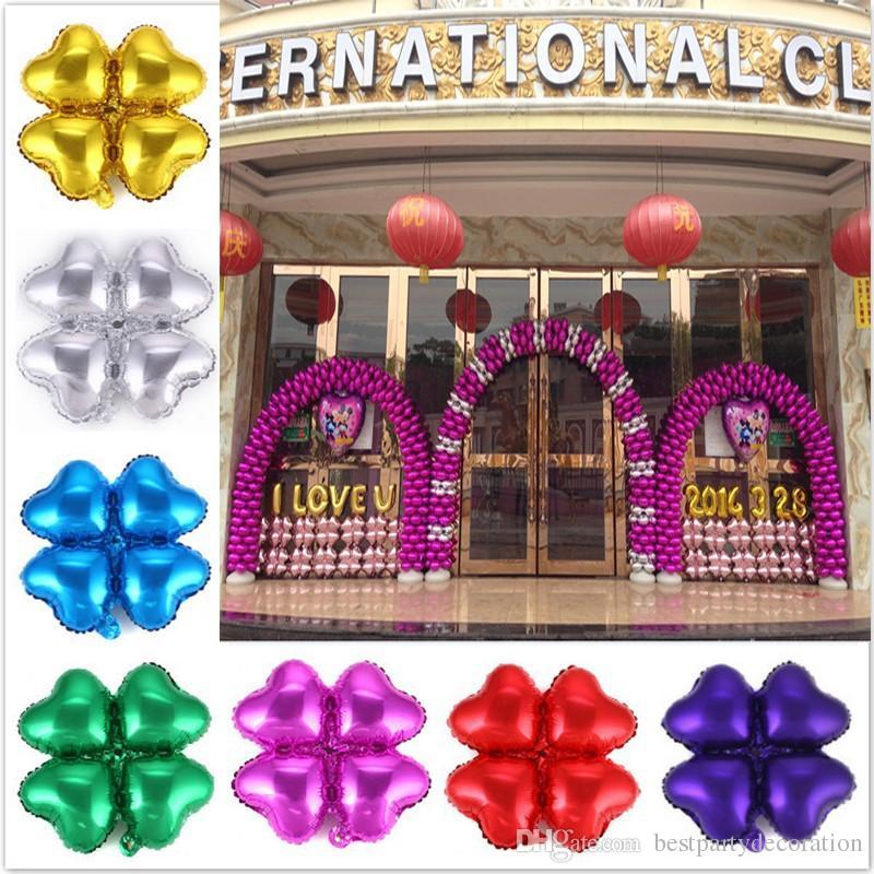 Globos de arco baratos para la decoración de la boda Actividades de la tienda Ceremonia de apertura de la tienda Globos Corazones de corazones de trébol de corazones 45 * 45 CM en Fast Ship