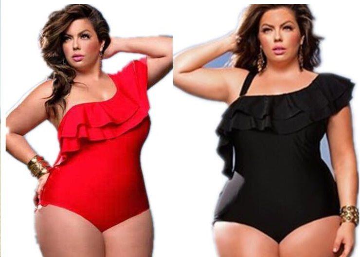 Hot girl popular Sports women plus Big high waisted fat stripe print one piece bikini swimwear Triangle Sexy fat flexible stylish swim wear