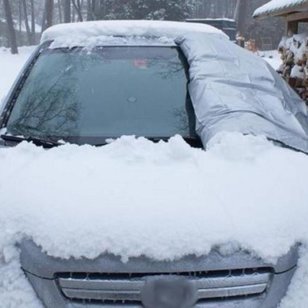 CARPRIE pare-brise de voiture magnétique Garde couverture pliable élastique étanche anti-pluie automatique Visière pare-soleil 212x150cm aspiration