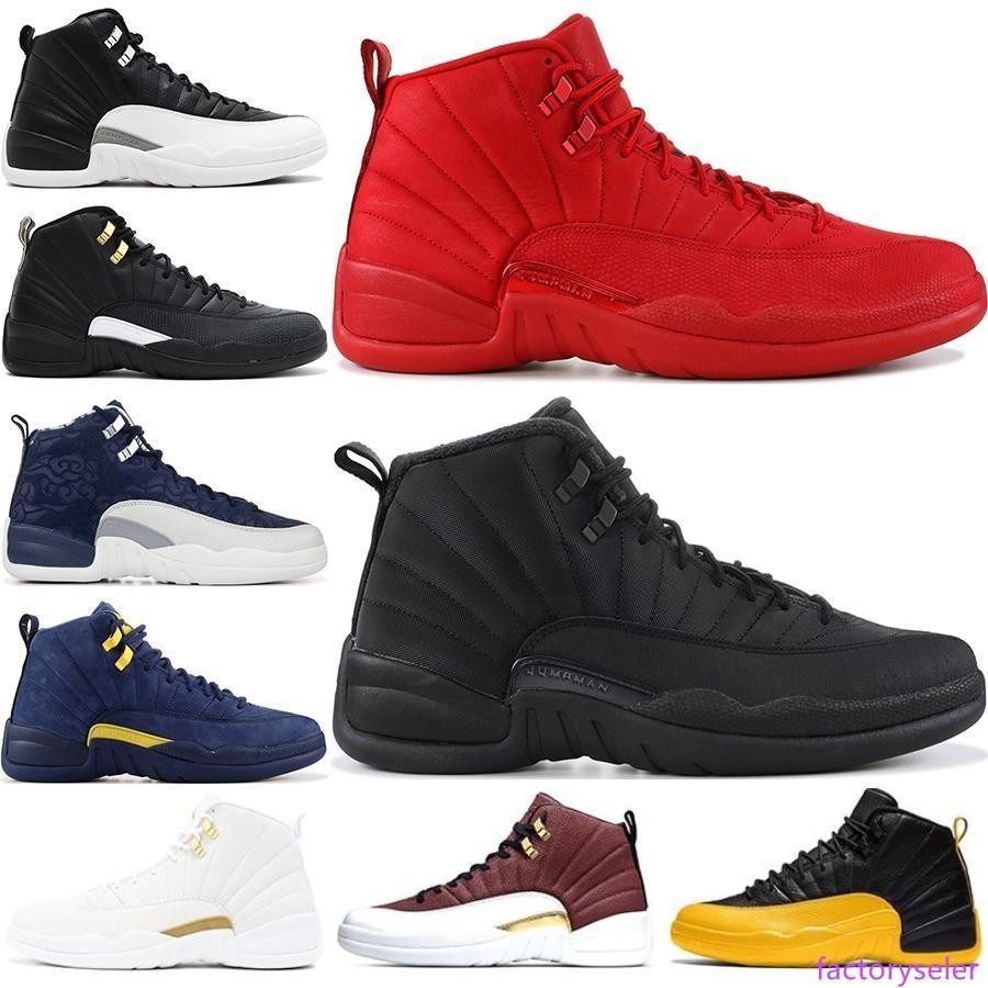 Nouveaux 12s hiberné WNTR Gym Red Michigan Hommes Chaussures de basket-ball Le Master Jeu Flu Taxi 12 hommes formateurs designer du sport chaussure US 7-13