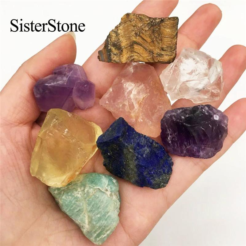 8pcs natural quartz crystal rough gemstones and minerals healing raw stones as gifts T200117