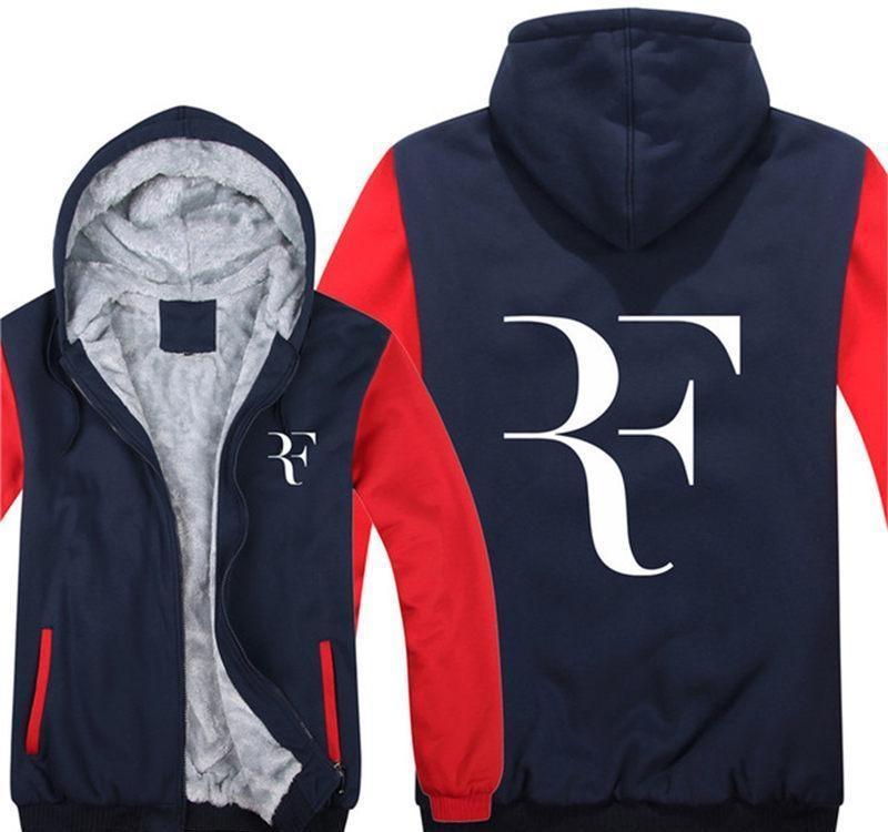 2020 Winter Men Zipper Hoodies The Roger Federer Pefect Jacket Men Pullover Casual Wool Liner Sweatshirts Unisex Thicken Coat 064 From Zuihouyige1 60 55 Dhgate Com