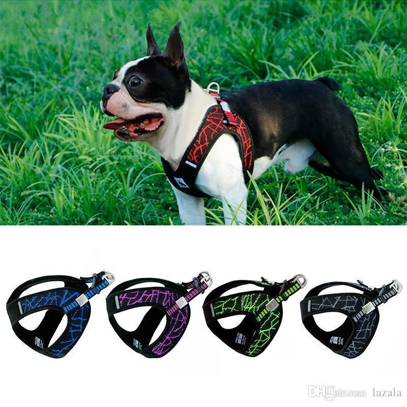 لا سحب الرياضة عاكس تسخير الكلب للصغير متوسط كبير جروب لكل كلب بلدغ في الهواء الطلق تدريب الكلاب المشي لوازم السلامة الصدرية تسخير