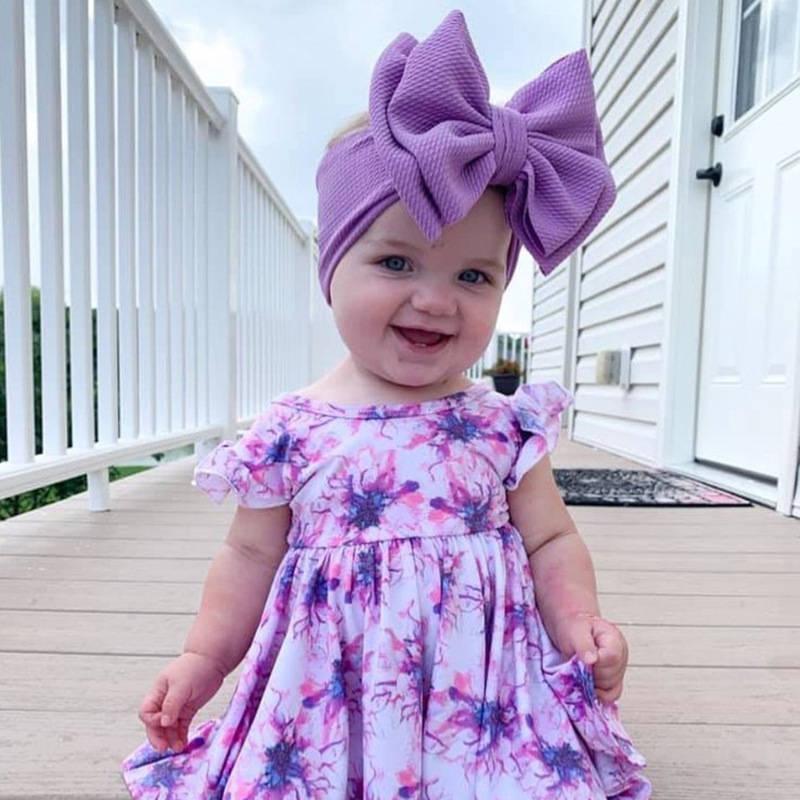 YUXIC bébé Accessoires cheveux double bowknot bébé nouveau-né Bandeau Princesse tête Bandes Bows cheveux nourrisson Turban