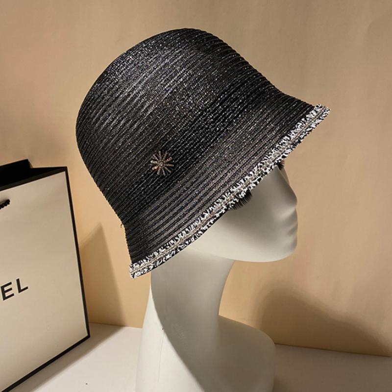 2020 Простых лето женщин Пляж Hat Женская Повседневная Панама-Бич Hat Lady Pearl кружево Солома крышка девушка ВС Maershei