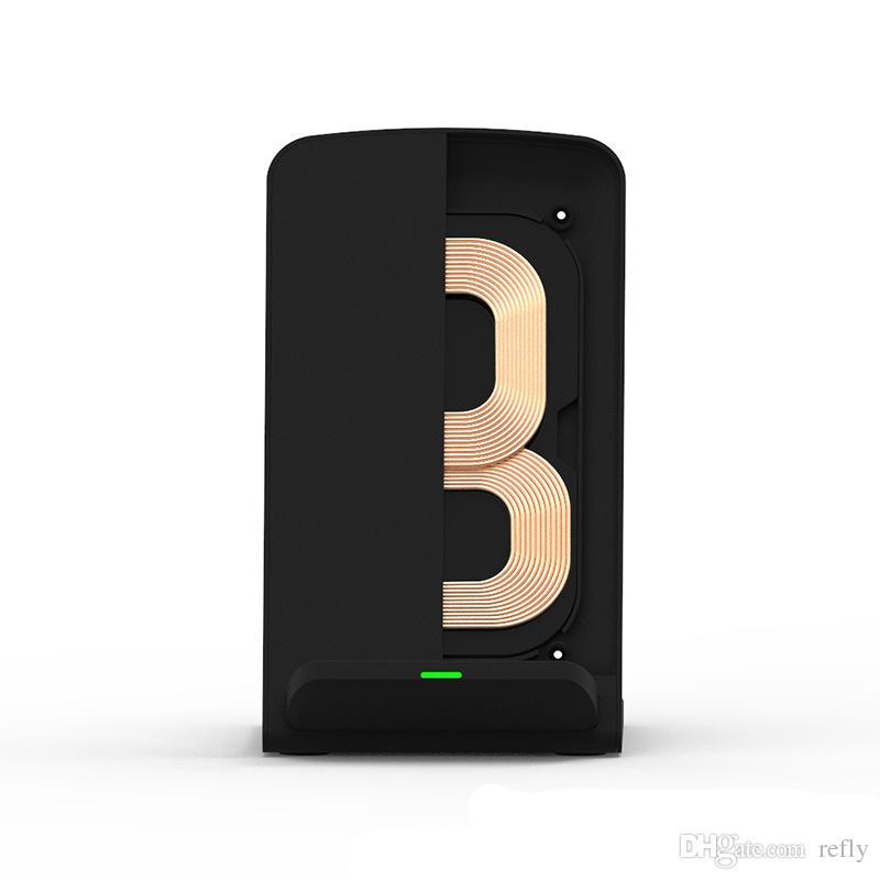 2019 Q740 Hızlı Kablosuz Şarj Şarj Pad Samsung Galaxy S8 S7 S7 kenar / S6 / S6 Kenar Esge + Not 5 Not 4