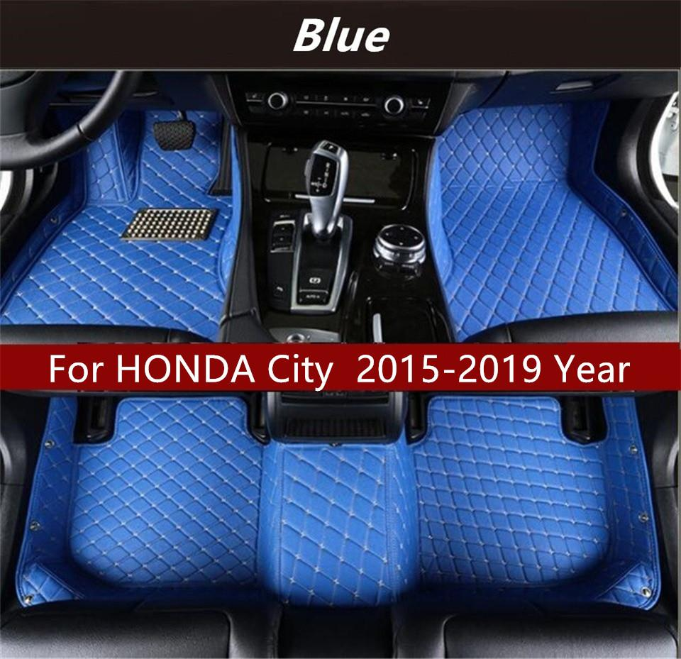 Pour HONDA Ville 2015-2019 Année voiture Intérieur Pied tapis anti-dérapant protection de l'environnement Insipide Non toxique Tapis de sol