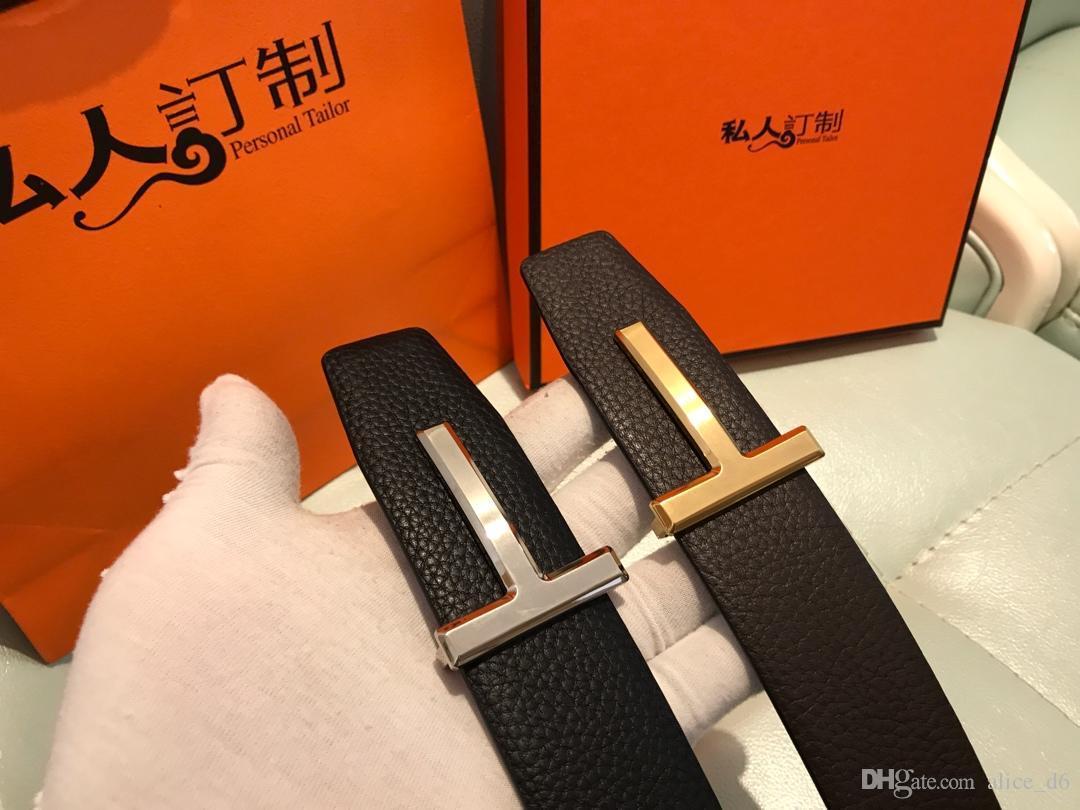 تشمل صندوق أصلي 2019 أحزمة تصميم الرجال والنساء موضة الحزام جلد طبيعي Luxry حزام العلامة التجارية الخصر حزام الذهب الأسود فضة S3