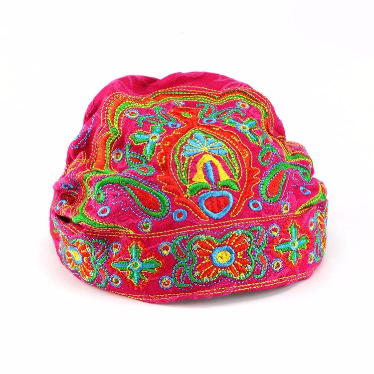 2020 Новых женщины Этнических Цветочных Женщины моды вышивка Cap дама Рабочей Весна Взрослого Boho Хиппи Урожай Шапочка Hat