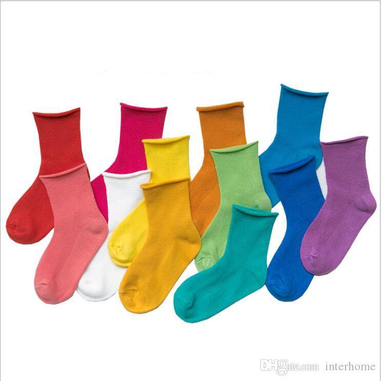 1-12T LT1547 için Çocuk Pamuk Çorap Yumuşak Nefes Rahat Bebek Çocuk Çorap çorap Katı Casual Kız Erkek Moda Renkli Çorap
