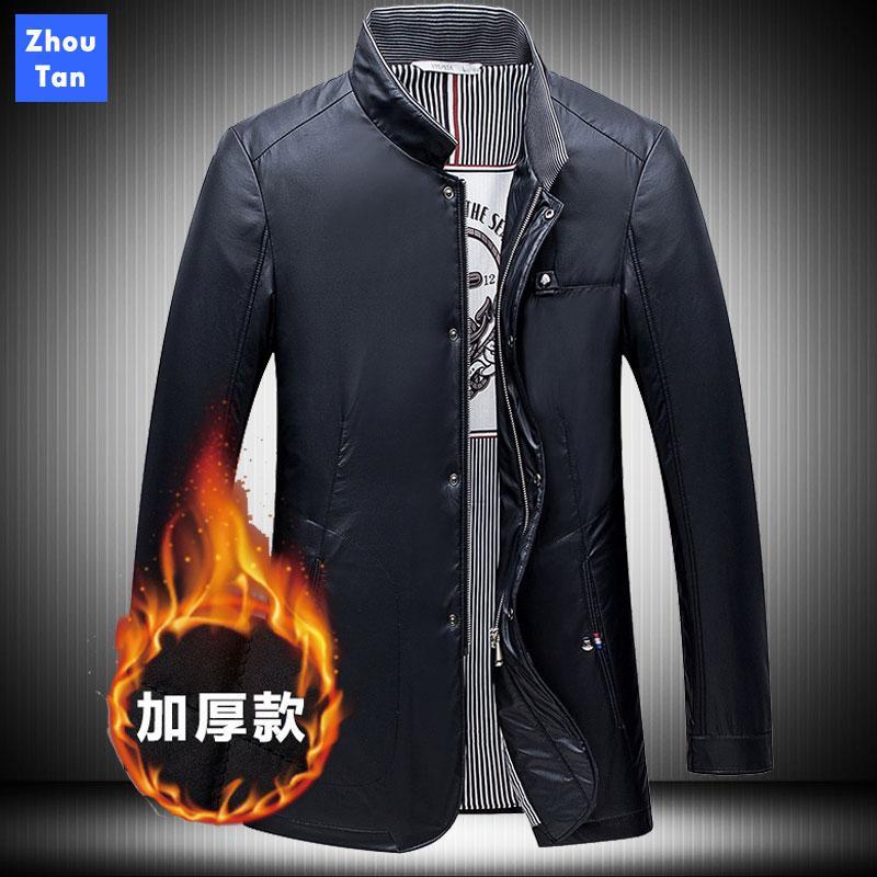 2020 neue Herbst-Männer Jacke Business Casual Coats Solid Color Mode Herrenmode Stehkragen Herren Jacken