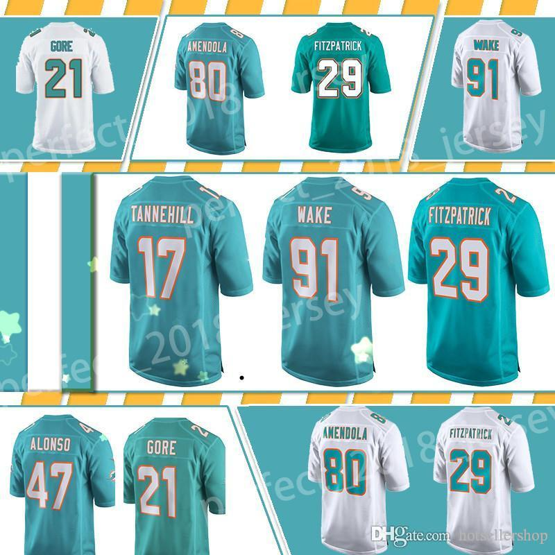 reputable site 97ef4 0acbd 2018 Miami Dolphins Jersey Football Jerseys 13 Dan Marino 29 Minkah  Fitzpatrick 80 Danny Amendola 17 Ryan Tannehill 91 Cameron Wake 21 Top Sale  From ...