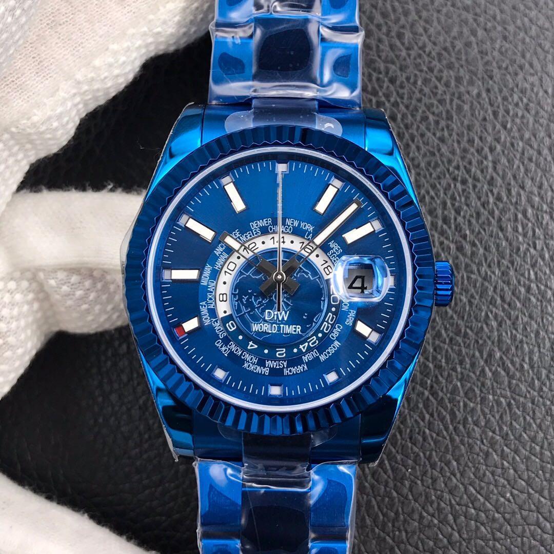 Новое высококачественное, мужское стиль, оригинальная страховая складная кнопка, 40 мм х 9,5 мм, дизайнерские часы, сапфировое стекло