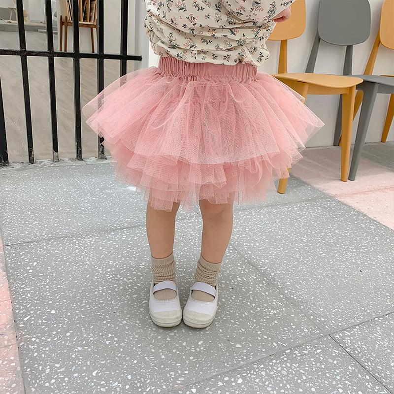 Autumn New Childrens Clothing Korean Fashion Bust Princess Dress Children Baby Girls Veil Layer Yarn Tutu