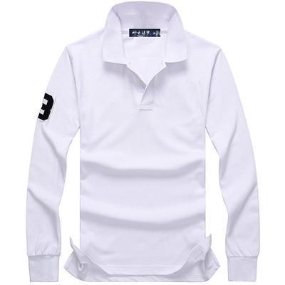 Vendas direto da fábrica 2020 outono e camisa pólo de alta qualidade da moda camisa de inverno novos homens de manga comprida 100% dos homens do algodão de mangas compridas polo