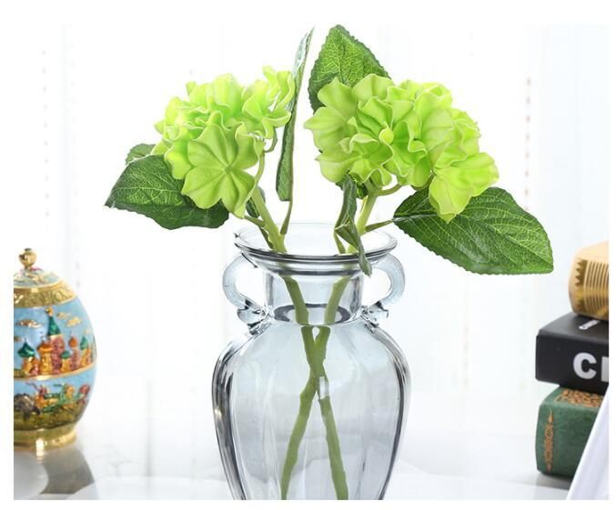 Wholesales Mini PU Hydrangea Flower bouquet 34cm height artificial flowers For Home Party decorations Wedding Table centerpieces