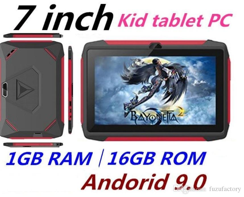factory price kid Tablet PC Q98 Quad Core 7 Inch 1024*600 HD screen Android 9.0 AllWinner A50 real 1GB RAM 16GB Q8 with Bluetooth wifi