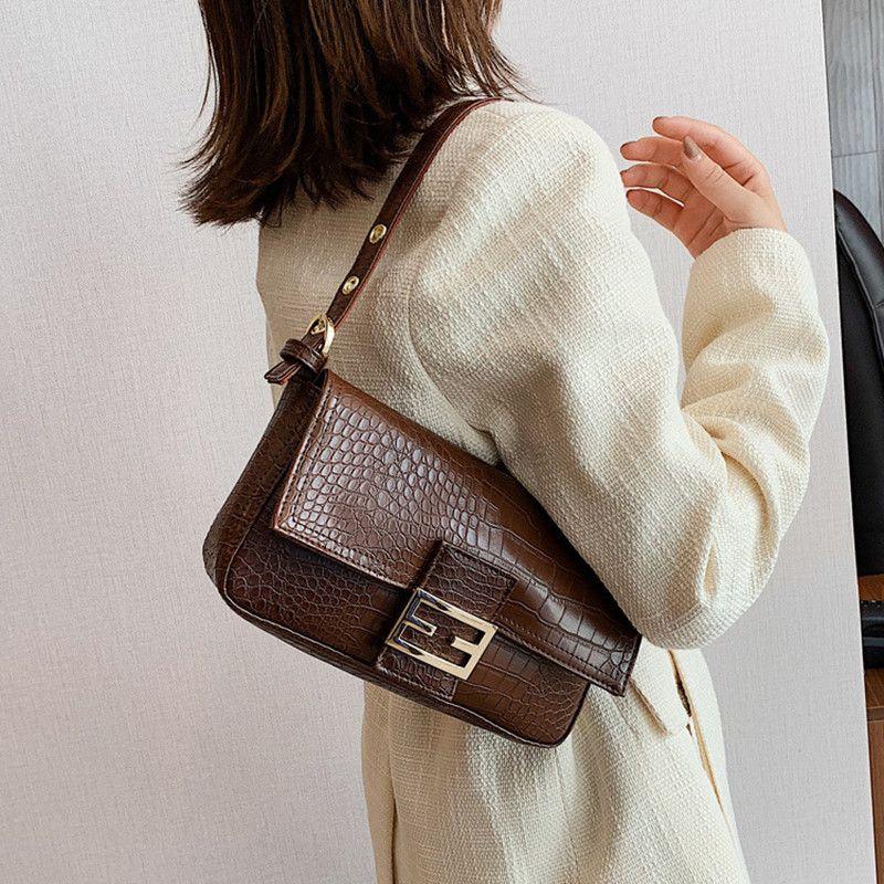 2020 Ladies' High-quality Shoulder Bag Retro Underarm Bag Women Baguette Classic Brand Lock Wild Shoulder Designer Handbags