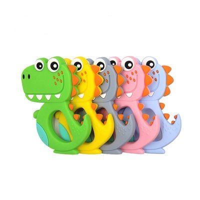 الشكل الكرتون الحيوان الأسنان الغذاء الصف سيليكون الطفل عصا لعبة ديناصور طفل عضاضة بالجملة الاطفال التسنين هدية لعب اطفال ورضيع