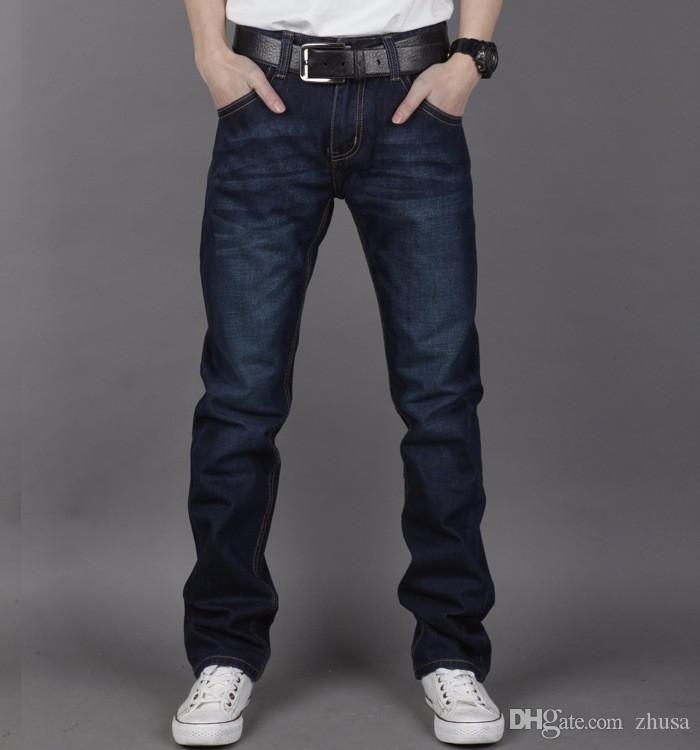 2016 Novos Homens de chegada Brand Jeans Masculino Casual Straight Men Jeans Moda Jeans Magro denim geral Brands Jeans Biker